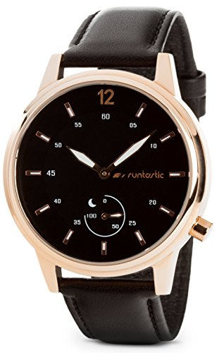 Runtastic Moment CLASSIC Uhr & Aktivitätstracker (mit Lederband) Rose Gold
