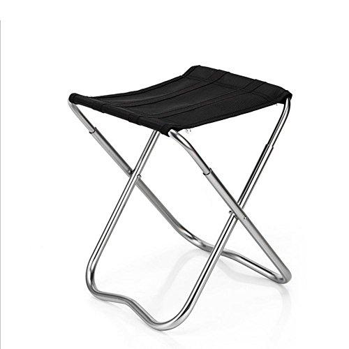 TZTed pliante portable Camping Tabouret, extérieur léger Nouveau Design Chaise Garden Beach Tissu Oxford avec sac de transport en aluminium, noir (9\