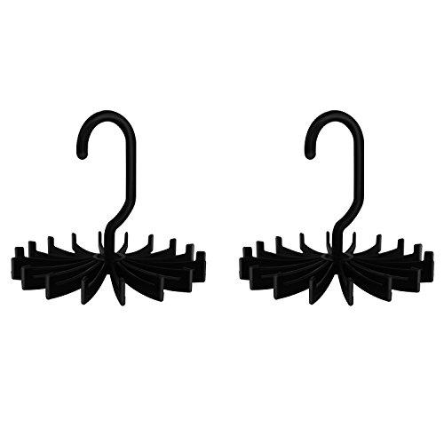 Ipow 2 Stück groß 360° drehbaren Krawattenhalter krawattenbügel (Schwarz 5,3 Zoll)