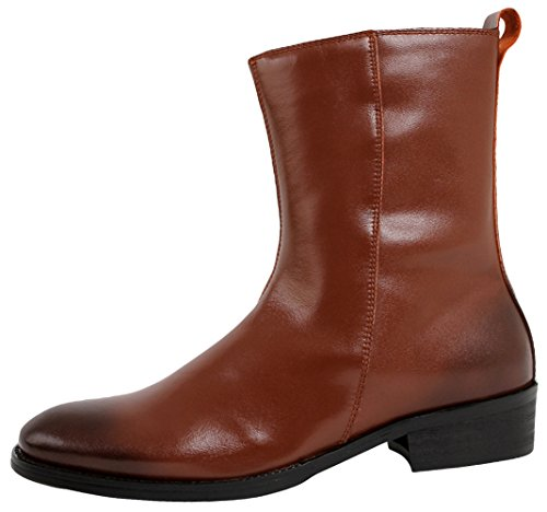 SERDAOUMANI boots homme cuir supérieur tête ronde BAROQUE STYLE détente et travail Marron