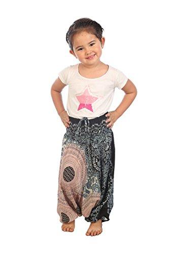 Lofbaz Mädchen Kinderhose Haremshose jumpsuit Blumenmuster Weiß Größe 3T Weiße Jumpsuit Für Kinder
