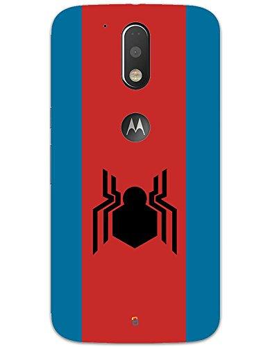 myPhoneMate Spider Man Homecoming Logo Designer Printed Hard Matte Mobile Case Back Cover for Motorola Moto G4 Plus