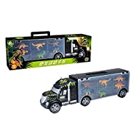congchuaty Dinosaur Truck, Transport Car Carrier Truck Toy with 6 Dinosaurs Toys Inside