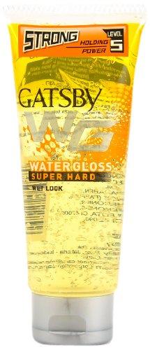 Gatsby Water Gloss Super Hard,Hair Gel Yellow, 100g (Ship from India)