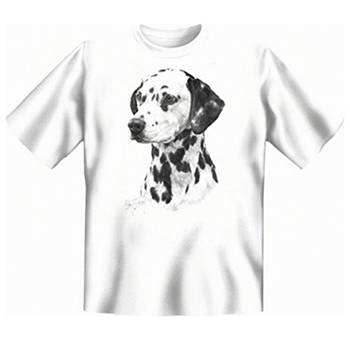 Für den Hundefreund und Tierliebhaber: Dalmatiner T-Shirt Farbe weiß Weiß