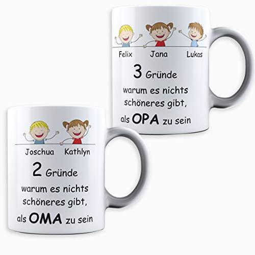 Creativgravur® Geschenk für Oma und Opa die schönsten Oma & Opa Tassen im Set - Geschenk perfekte für Großvater und Großmutter, Oma Opa Tasse:Oma & Opa Tasse im Set