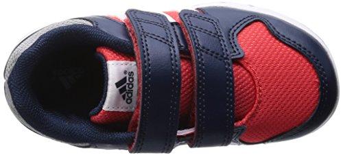 Adidas - Adidas Lk Trainer 6 Cf I Kinder Sportschuhe Blau Leder Textil B40558 Rot