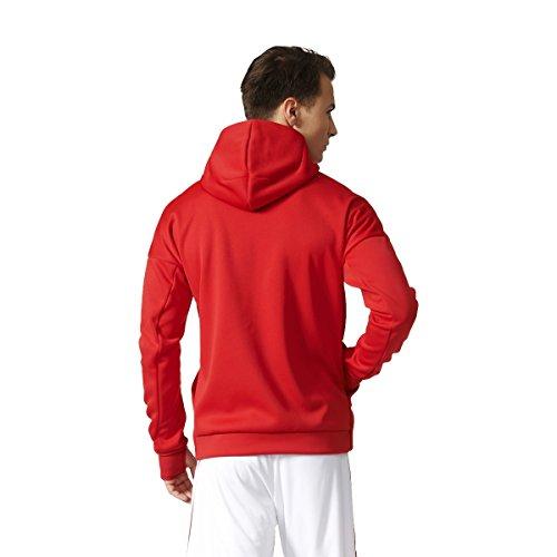 adidas Herren Mufc Anth Zne H Sweatshirt mit Reißverschluss Manchester United Fc Rot (ROJREA/ROJPOT)