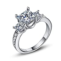 CHARHODEN Fashion ladies plated 925 silver zircon ring -9