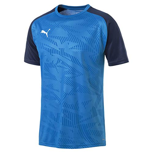 Puma Herren Cup Training Jersey Core Trikot, Electric Blue Lemonade-Peacoat, L -