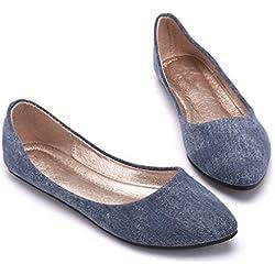 Zapatos Planos De Mujer Zapatos Planos De Mezclilla Transpirable