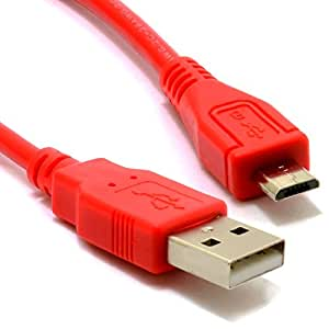 USB 2,0 A Vers Micro B Données et Chargement Blindé câble 0,5 m 50 cm Rouge