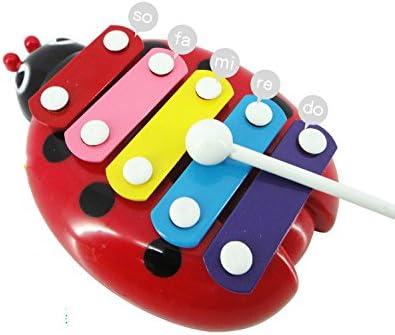Qilegn pour enfant enfant enfant Xylophone musical Toys Beetle Main Knock Piano (Rouge) | Outlet  b13f87