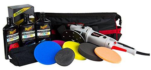 Preisvergleich Produktbild DINO KRAFTPAKET Exzenter Poliermaschine & MEGUIAR'S Ultimate Set & Polierpads