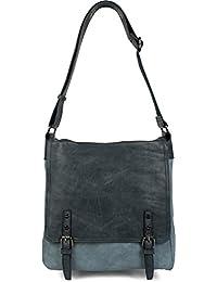 styleBREAKER bolso tipo mensajero con hebillas en la parte delantera, bolso de hombro, bolso