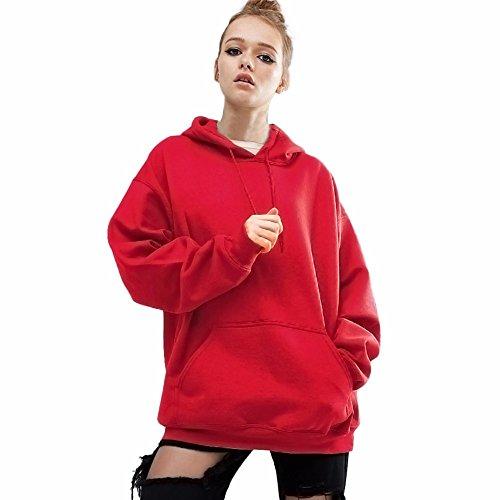 ITISME Damen StrickjackeWomen Long Sleeve Hoodie Sweatshirt Sweater Casual Hooded CoatWeißE FüR...