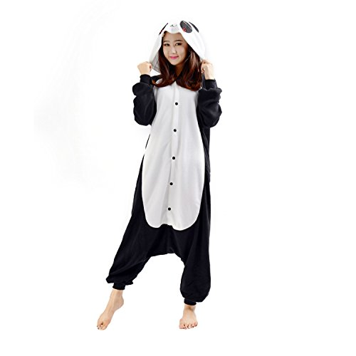 Darkcom - animale pigiama intero da adulto unisex per cosplay e travestimenti tutina motivo panda triste