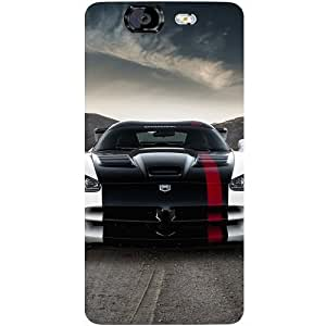 Casotec Sports Car Pattern Design Hard Back Case Cover for Micromax Canvas Knight A350