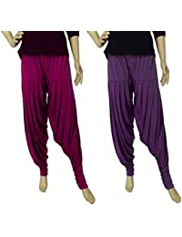 FABRICS CLOUD Women's Viscose Spandex Premium Patiala Salwar Pant (Combo Pack Of 2 - XL & XXL)