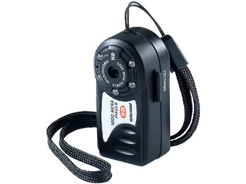 Somikon Helmkamera: Full-HD-Mini-Kamera AC-1080.ir mit IR-Nachtsicht (HD Minikamera)
