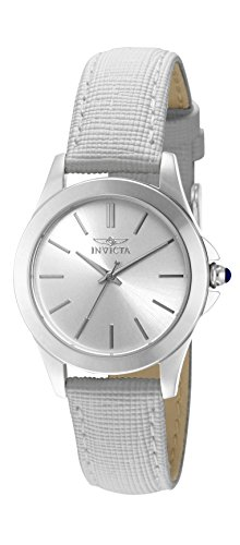 Invicta Damen-Armbanduhr XS Analog Quarz Leder 15147 (Invicta Uhren Frauen Weiß)