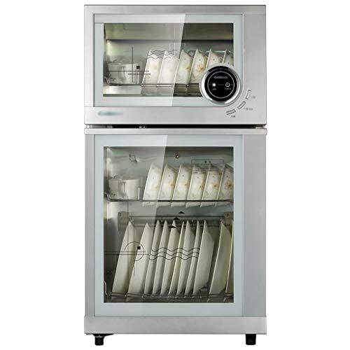 MXRqndqa Wärmegeräte Desinfektionsschrank nach Hause vertikale kleine Küche hoher Kapazität Desinfektionsschrank (Farbe : Silber)