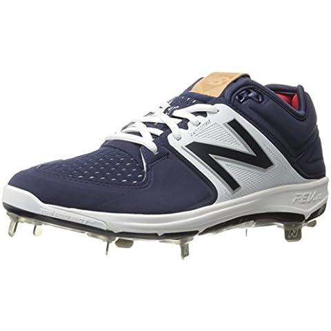 New Balance Men's L3000V3 Baseball Shoe, Navy/White,