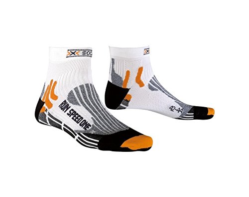 X-Socks Speed One - Calcetines deportivos unisex multicolor white/ black Talla:42-44