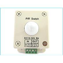 Sensore Di Movimento Per Luci Led Con Sensore PIR Rilevatore Di Presenza Infrarossi 12V 24V 8A