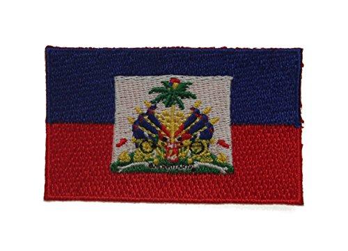 Yantec Patch Haiti 4 x 6,5 cm Flaggenaufnäher (Haiti Patch Fahne)