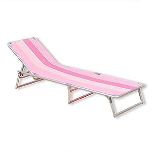 Klappbare sonnenliege jimmy rosa pink alu 4fach for Klappbare sonnenliege