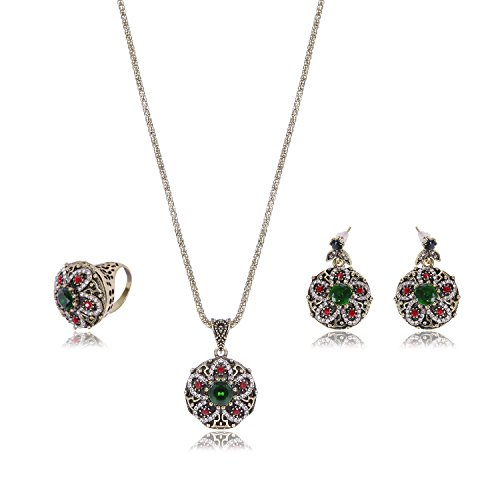 deschmuck Vintage-Juego de pendientes y collar de San Valentín joyas mujeres regalo de cumpleaños de amor para la madre
