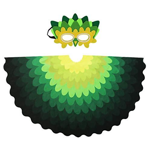 Joyibay Kinder Kreative Fee Vogel Flügel mit Maske Verkleiden Sich Kostüm Set Halloween - Vögel Flügel Kostüm