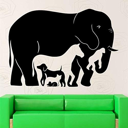 Yssyss Art Animal Collection Wall Sticker Elephant, Dog, Cat, Rat, Monkey, Horse Wall Artist Residence Decoration - Animal Wallpaper 80 * 57Cm -