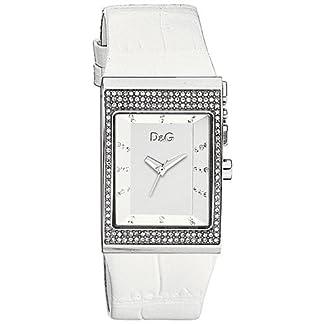 Dolce & Gabbana IDE Strass SLV DIAL WTE Strap DW0155 – Reloj de Caballero de Cuarzo, Correa de Piel Color marrón