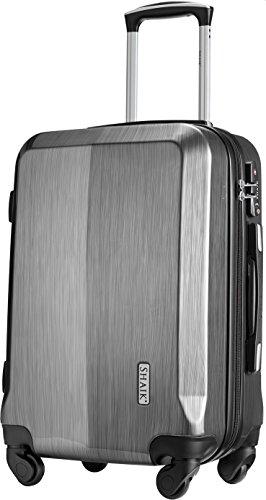 SHAIK® Serie Professional, SIN Größe M Handgepäck Boardgepäck Koffer, 32 Liter TSA Schloss, SH009 (Schwarz, M | Handgepäck)