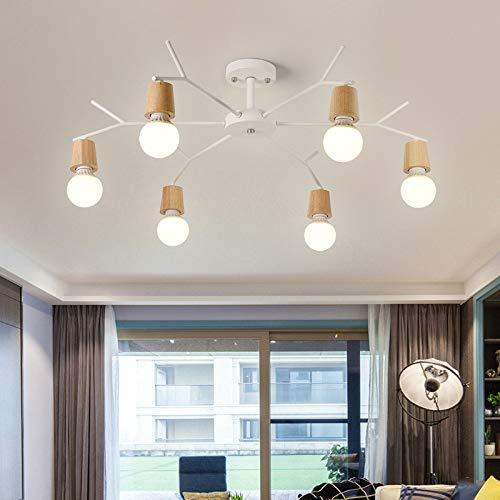 Personalisierte Schlafzimmer Esszimmer LED-Leuchte 6 weiß mit monochromen LED warmes Licht 9 Watt Birne
