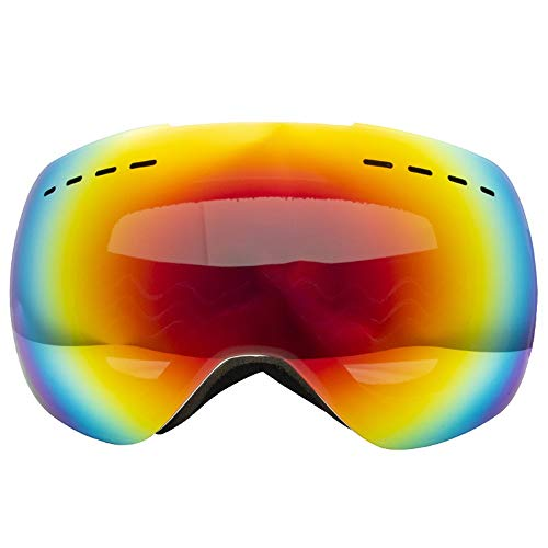 Skibrille Doppelte Anti-Fog-Cola-Karte Myopie Große kugelförmige Schneespiegelbrille Großes Sichtfeld Skibrille Kletterwindschutzscheibe im Freien Snowboarden, Skifahren, Skaten ( Farbe : Weiß )
