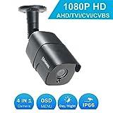 Caméra Bullet 1080P intérieure / extérieure, Caméra de Surveillance CCTV de sécurité étanche à la poussière CVBS Analogue CVBS / 960H Hybride COSOOS 4 en 1 2,0 MP AHD / TVI / 960H Vision Nocturne
