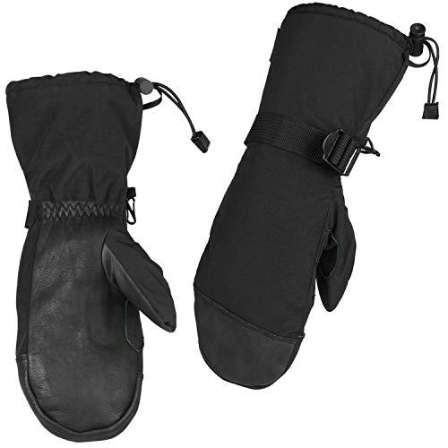 OZERO Winter Fäustlinge, -40℃ skihandschuhe mit Lederhandfläche und Thermal-Thinsulate-Einsatz für warme Hände,1 Paar