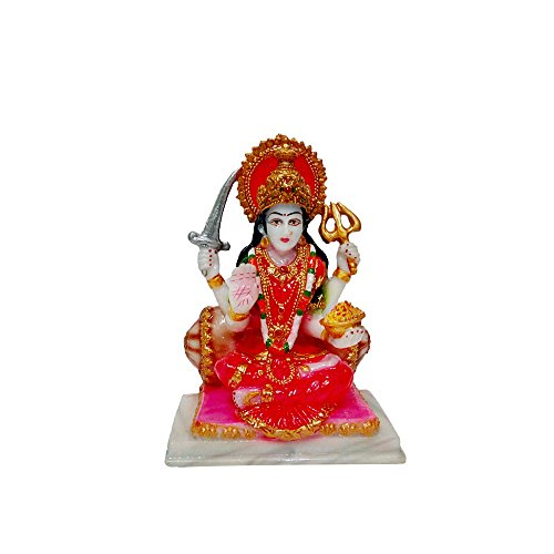 Fabzone Marble Look Goddess Maa Santoshi Statue Handicraft Decorative Spiritual Puja Vastu Showpiece Religious Murti Pooja Gift ItemReligious Murti