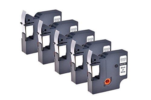 Mycartridge 5 Pack kompatibel Dymo D1 45013 S0720530 12mm x 7m Schriftband für DYMO LabelManager 160 LabelPOINT (Schwarz auf Weiß)