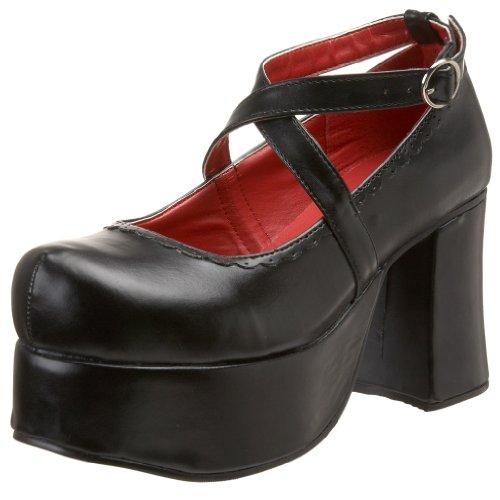 Demonia ABBEY-03 - Zapatos de tacón, Color Negro, Talla 36