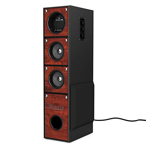Bencley Led Multimedia Tower Speaker 25000W PMPO with Bluetooth/Aux/USB/Mic Port (2 ft Height)