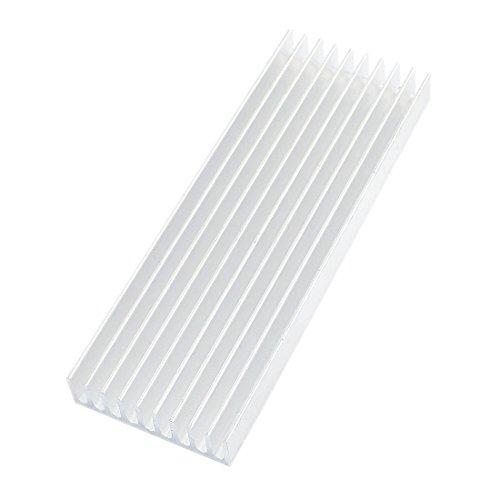 Dissipateur - SODIAL(R) 100mm x 35mm x 10mm Dissipateur Thermique En Aluminium pour IC MOSFET SCR Composant Argent