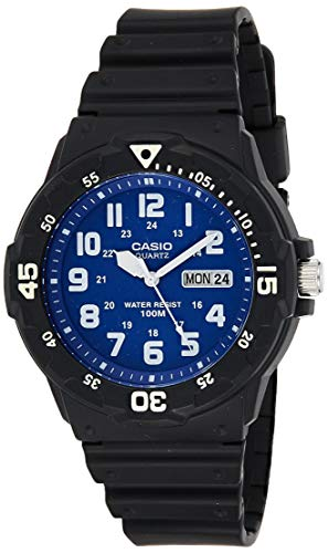 Casio Collection Herren-Armbanduhr MRW200H2B2VEF, schwarz/Blau/Weiß