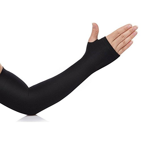 CABLEGALLERY Fingerless Arm Sleeve 1 Pair With Thumb Hole for All Sport Related Activities