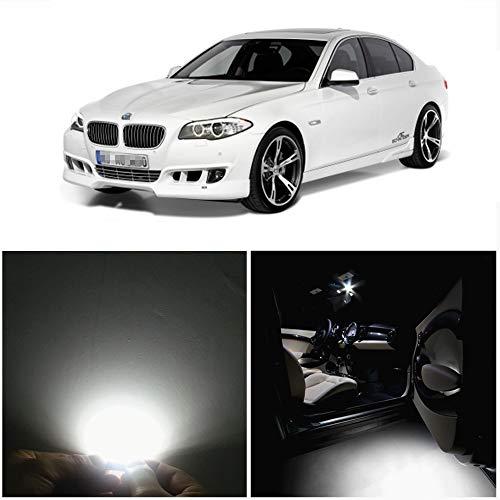 WLJH 19 pièces de voiture Kit Package LED Blanc éclairage Intérieur LED Package kit pour F10 5 Series 2010 + 550i 535I 528i M5