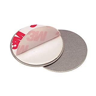 MAGNETBEFESTIGUNG für Rauchmelder von 4smile ǀ 6 x Magnethalter für Feuermelder ǀ Zubehör Brandmelder Brandschutz ǀ Rauchmelderbefestigung ohne Bohren ǀ Magnet Ø 35 mm