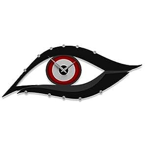 CalleaDesign - Orologio da parete Occhio, Colore: Rosso fuoco